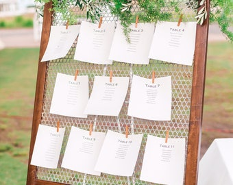 Wood Framed Seating Chart