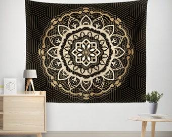 Mandala Tapestry,Ethno mandala wall tapestries,bohemian tapestry,Indie vintage mandala decor,chabby chic,Wall Hanging, Brown Tapestry