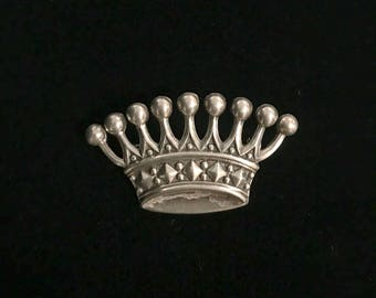 Sterling Silver Crown Pin