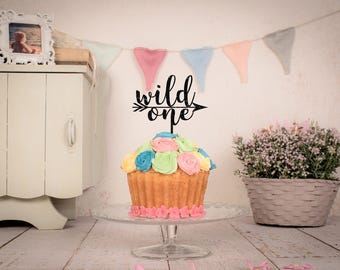 Wild One cake topper | Boho cake topper | Boys 1st birthday cake topper | Cake smash topper | Little wild one birthday | Gold cake topper