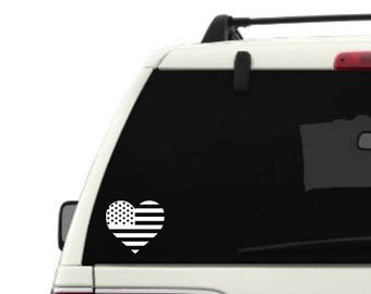 Heart Shaped US Flag decal, Heart decal, Heart flag, Flag decal, Shape flag, Car decal, Window decal, Laptop Decal, Tablet decal, Decal gift