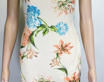 Floral Bodycon Knitted Chiffon Dress