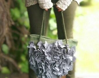 Womens tote bag, Boho handbag, Felted wool bag, Felted handbag, Felted hobo bag, Wool bags, Art handbag, Womens shoulder bag, Grey bags