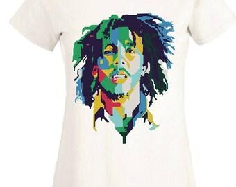 Bob Marley T Shirt Music Legend Ganja Raggae Weed Classic Vintage Birthday Gift Party Women Ladies Tee Top
