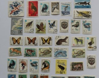 Set of 44 pcs Postal, Postage Stamp, Collecting, Philately # 12