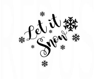 Let it snow svg, Santa Baby SVG, Believe in the magic of christmas SVG, cricut cutting file, holiday svg, snow svg, santa svg, Christmas svg
