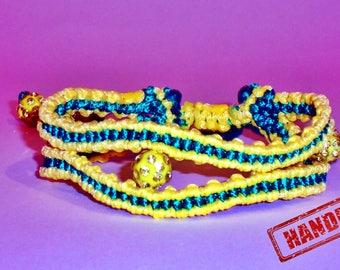 Macrame Bracelet in Yallow & Green