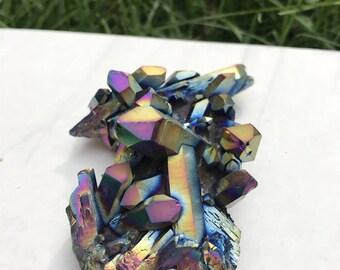 PICK YOUR SIZE! Titanium Aura Cluster, Titanium Aura Quartz, Aura Quartz, Titanium Aura Crystal, Titanium Aura, Titanium Aura Cluster