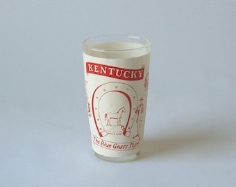 Vintage Kentucky Souvenir Juice Glass