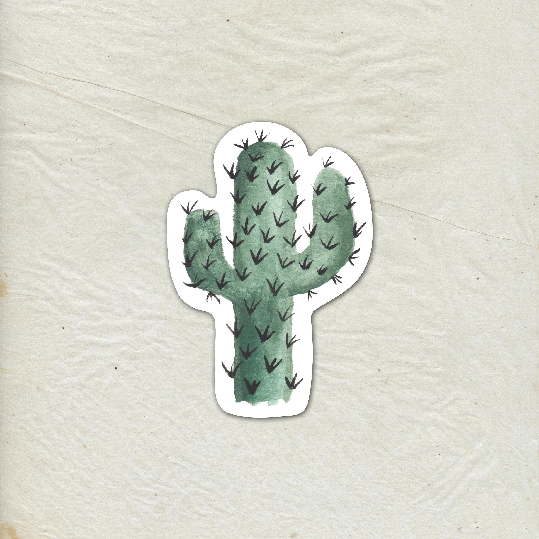 Cactus Decal Cactus Vinyl Sticker Watercolor Cactus Decal
