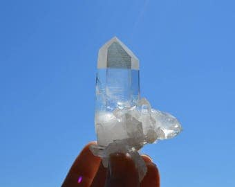 Arkansas Quartz Rough Natural Crystal Point with attached Double Terminated Crystal