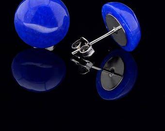 Natural lazurite earrings\LAPIS LAZULI blue earrings\gift blue earrinds
