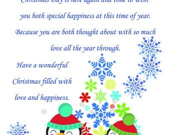 Niece & Fiance Christmas Card cute