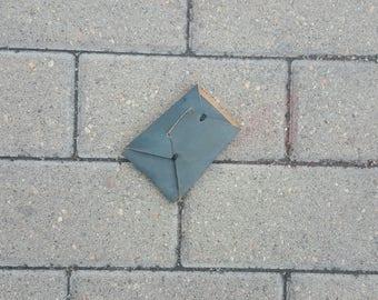 Origami Minimalist Leather Card Sleeve