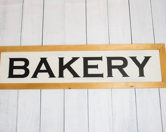 Bakery Sign   Rustic Sign   Farmhouse   Shabby Chic   wood sign   Decor   Home Decor   Office   Business   Gift   Framed   Wall Decor