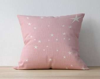 Square Pillow, Decorative Pillow, Star pattern, Nursery Decor, Kids Pillow Cushion, Home decor, Bedroom Decor, Scandinavian pillow