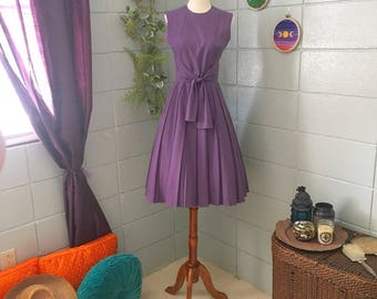1950's Ruth Walter Purple Fit and Flare Dress