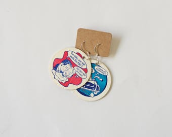 Retro Pog Earrings