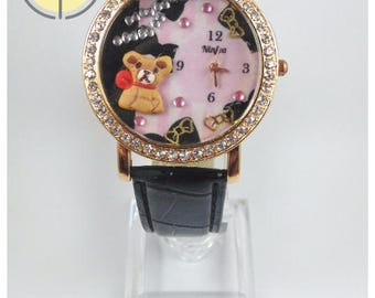 Watch sweet bear (3d Wristwatche Clay sweet bear)