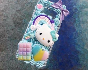 Galaxy S8 Kawaii Kitty full whip phone case