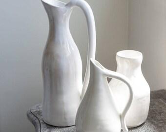 Ceramic White Carafe