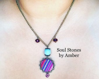 Native Inspired Amethyst Necklace