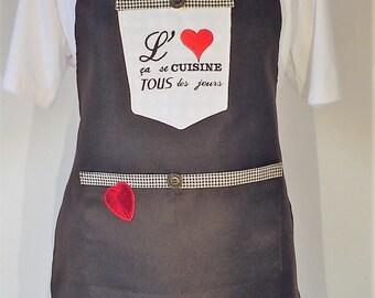 Valentine's apron