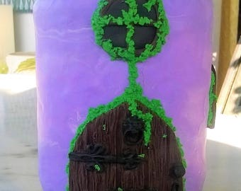 Purple FairyHouse/Polymer Clay