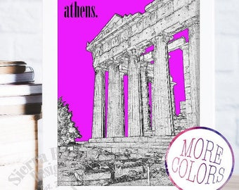 Parthenon Print, Acropolis, Greek Wall Art, Greece Art, Greece Travel Wall Art, Ancient Greece Wall Art, Athens Greece Print
