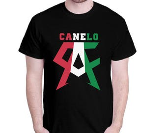 Inspired By Canelo Alvarez Mexican Flag  Tshirt Unisex Adult  T-Shirt S M L XL 2XL Sizes