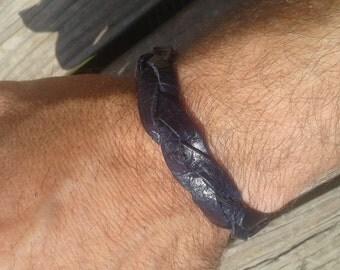 Mystery braid leather bracelet/anklet