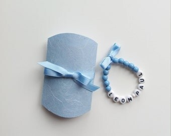 Baby bracelet blue with box