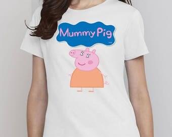 Peppa Pig, Peppa Pig Shirts, Mummy Pig, Mummy Pig Tshirt, Mummy Pig Shirts, Mommy Shirt, Peppa Pig Family Shirts, Peppa Pig Birthday Shirt
