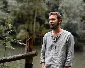 Men's linen shirt long sleeve