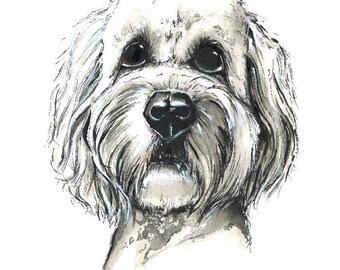 Watercolor Goldendoodle Print