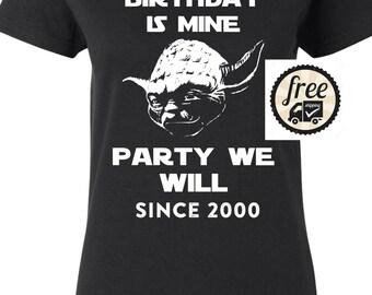 2000 birthday, 2000 shirt, 2000 T-Shirt, 2000, 2000 birthday shirt, 17yrs old, Any Year Available Yoda
