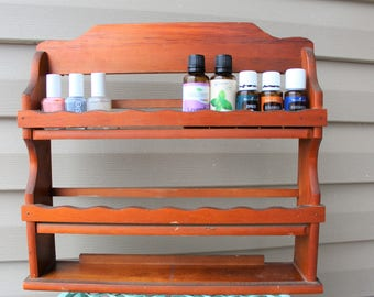 Essential Oil Holder - Nail Polish Rack - Vintage Wall Hanging Spice Rack