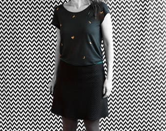 SKIRT / / ROCK / / A line / / black / / organic organic fair trade