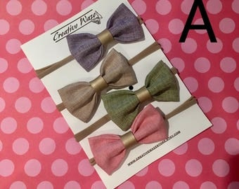 Baby Headband Bow, Nylon