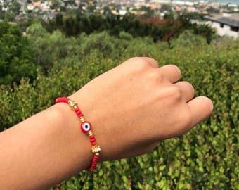 eye bracelet / pulsera ojo turco / protection bracelet / hamsa bracelet / good luck bracelet / birthday gift / boho jewelry