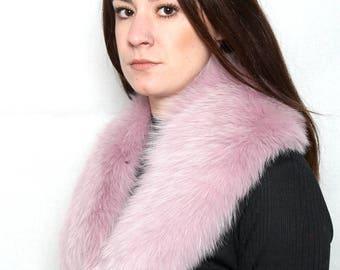 Beautiful Shades of Pink Fox Fur Collar