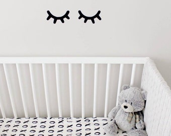 Sleepy Eyes Decal, Nursery Wall Decal, Gold Wall Decal, Sleepy Eyes, Wall Stickers, Nursery Wall Decal, Nursery Decor, Girl Nursery