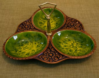 oneofakind serving dish california style pottery circa