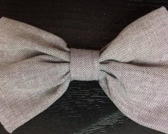 Earrings model gray lilac