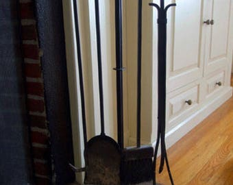 Personalized Fireplace Tool Rack
