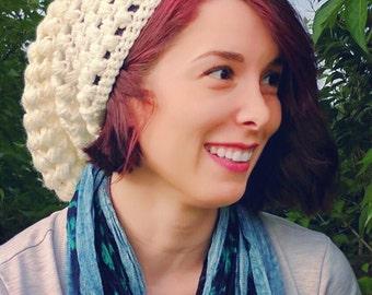 Off-white crochet hat
