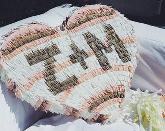 Monogrammed Heart Wedding Pinata