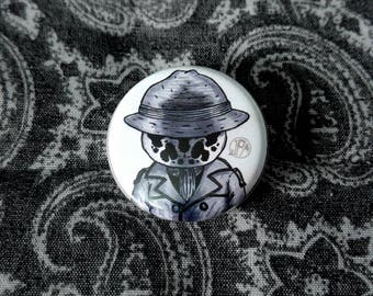"Watchmen - Rorschach 1 1/4"" Button pin"
