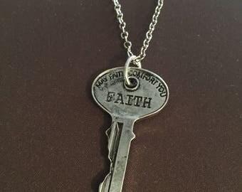 Silver Faith Necklace