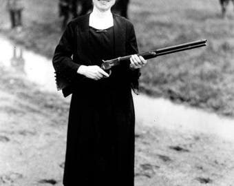"""8 x 10"""" Glossy Reproduction photo of  a 62 Year Old Annie Oakley"""